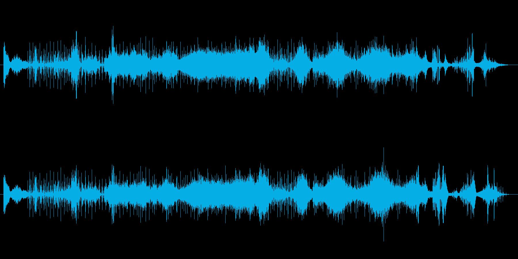 リズミックなシネマティックトレーラーの再生済みの波形
