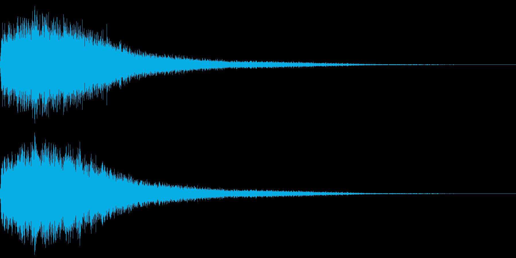 聖魔法の再生済みの波形