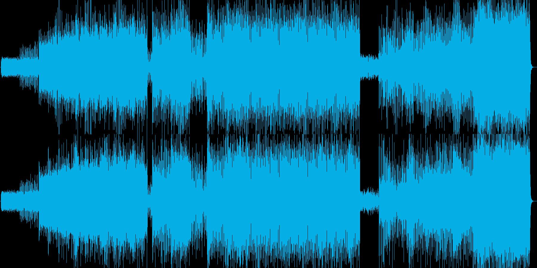 疾走感のあるテクノジャングルの再生済みの波形