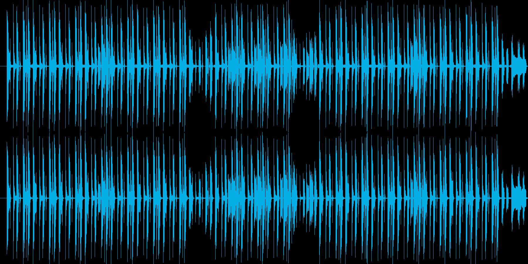ヒップホップ風リズムループです。の再生済みの波形