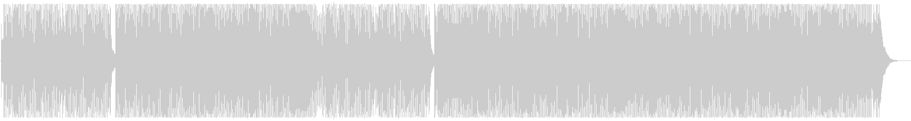 元気のいい可愛いテクノポップの曲の未再生の波形