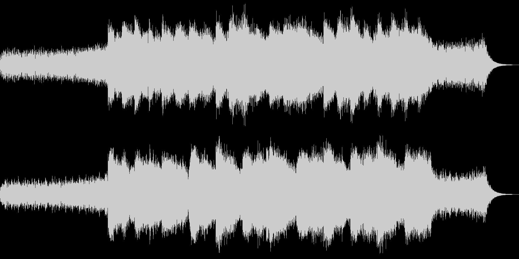 神秘的で覚醒するようなシンセループ曲の未再生の波形
