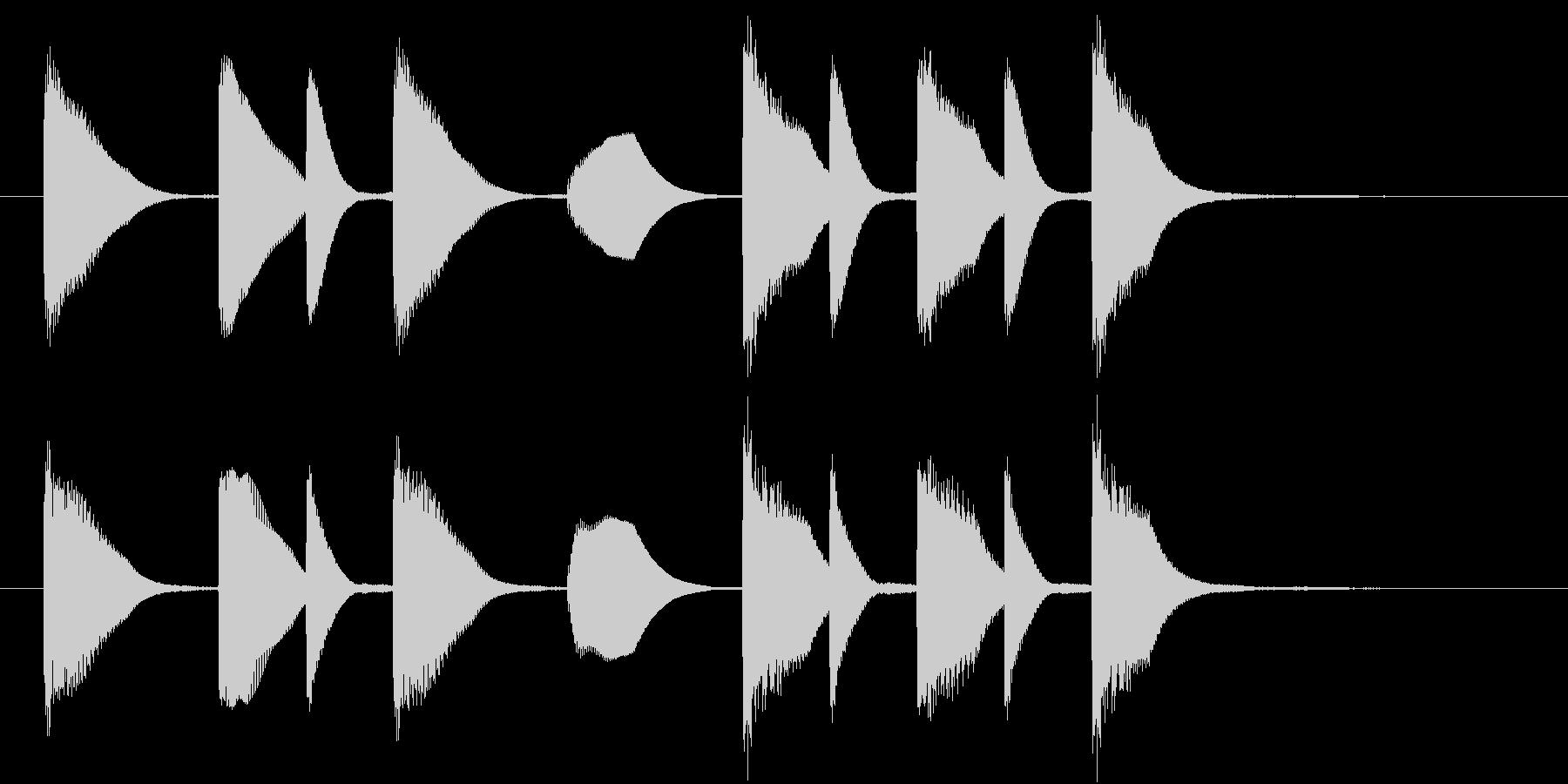 日本の呼びかけ風なジングルの未再生の波形