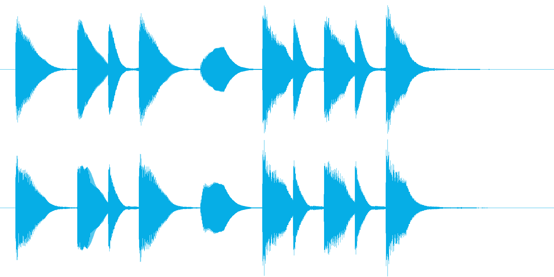 日本の呼びかけ風なジングルの再生済みの波形