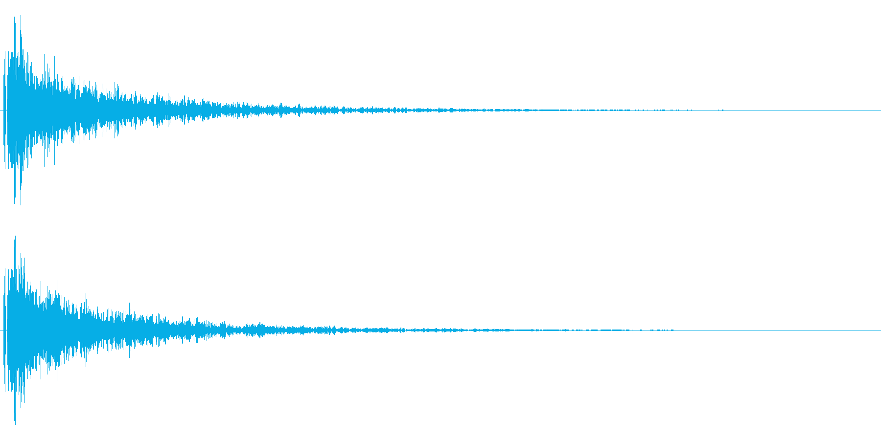 重い金属音。決定音やトレーラームービー等の再生済みの波形