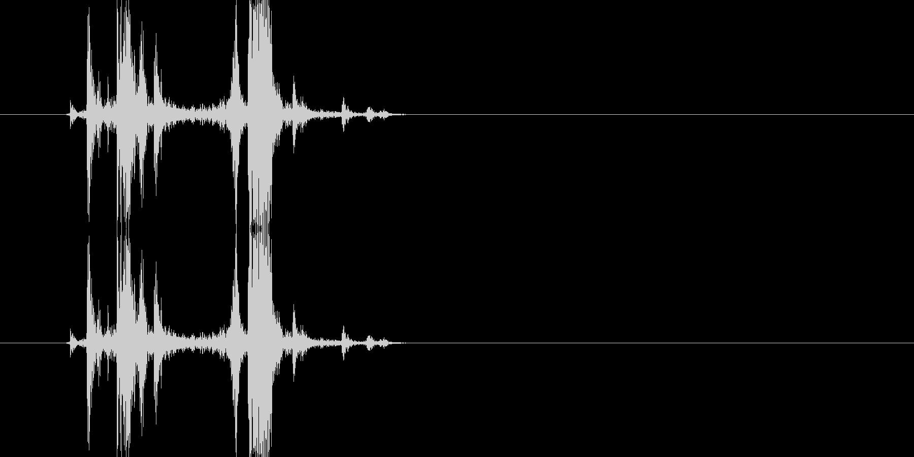 カメラのシャッター音3(カチッ)の未再生の波形