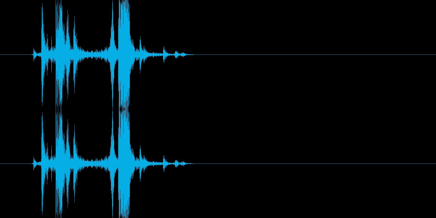 カメラのシャッター音3(カチッ)の再生済みの波形