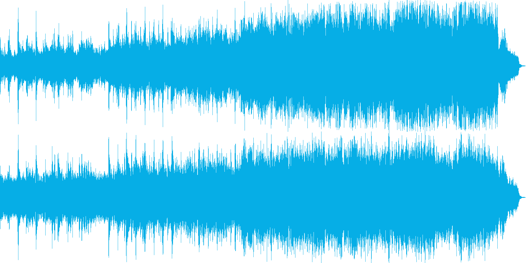 感動映像・ゲームのBGMの再生済みの波形