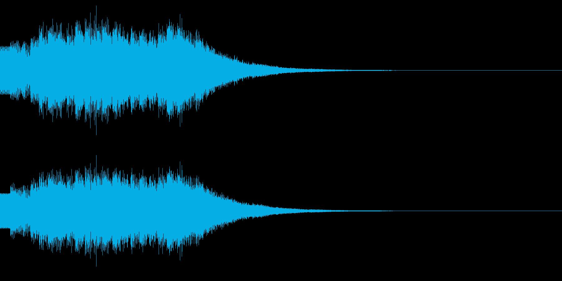 キラキラ/駆け上がり/場面転換の再生済みの波形