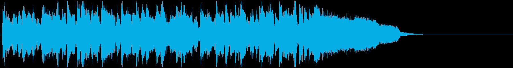 CM等に、近未来的なフュージョンジングルの再生済みの波形