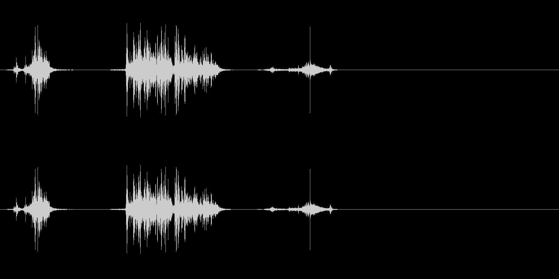 ウイスキーキャップ(開ける音)の未再生の波形