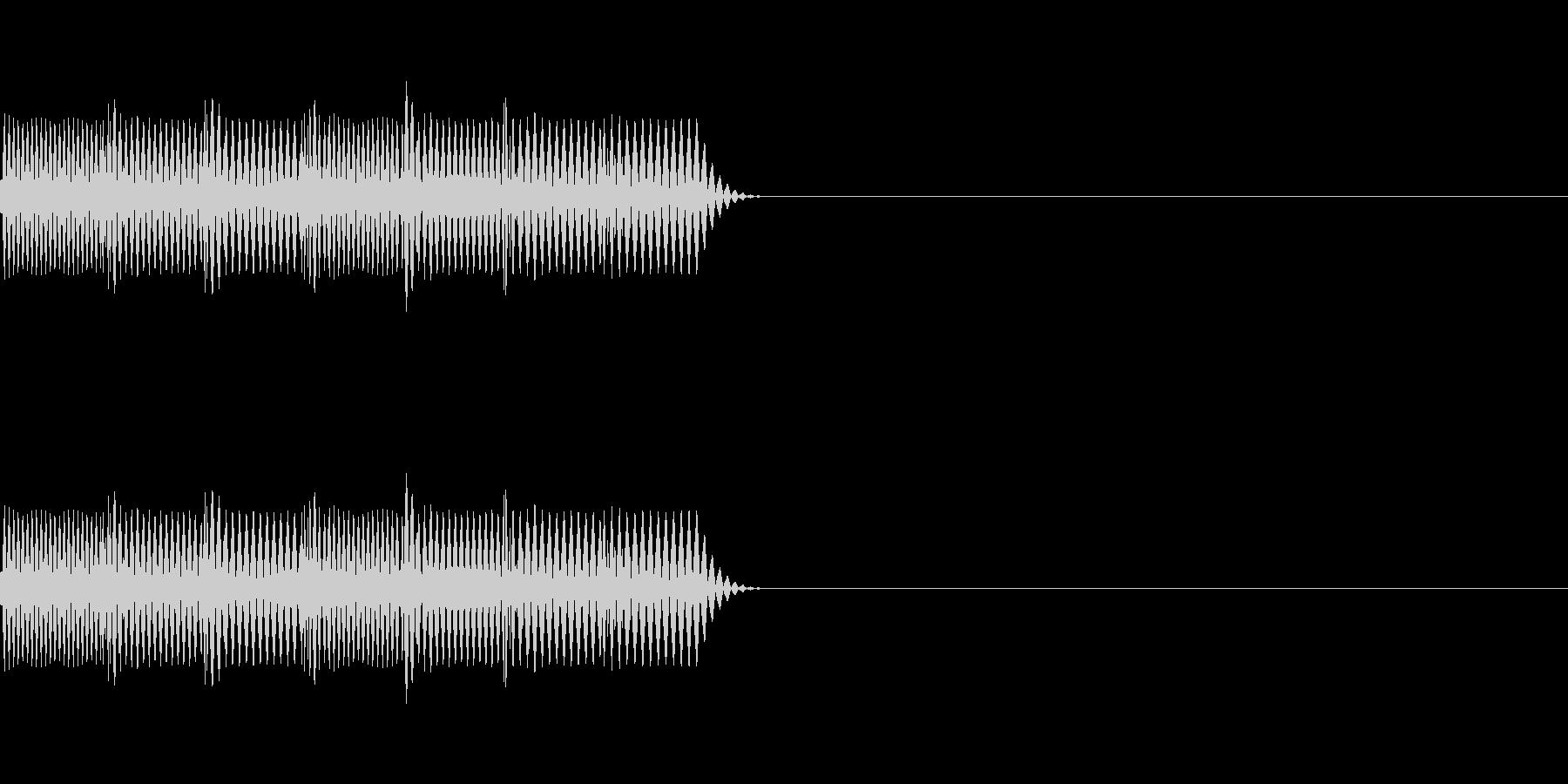 レトロゲーム風な失敗音の未再生の波形