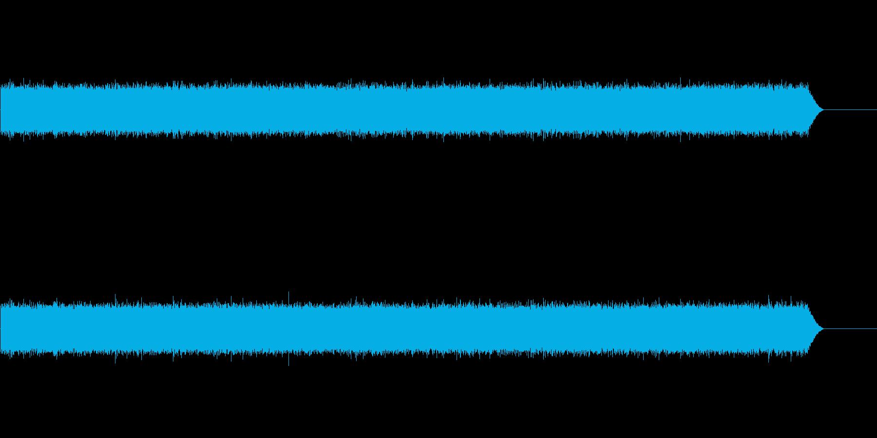 シンセと録音素材で制作した雨の音の再生済みの波形
