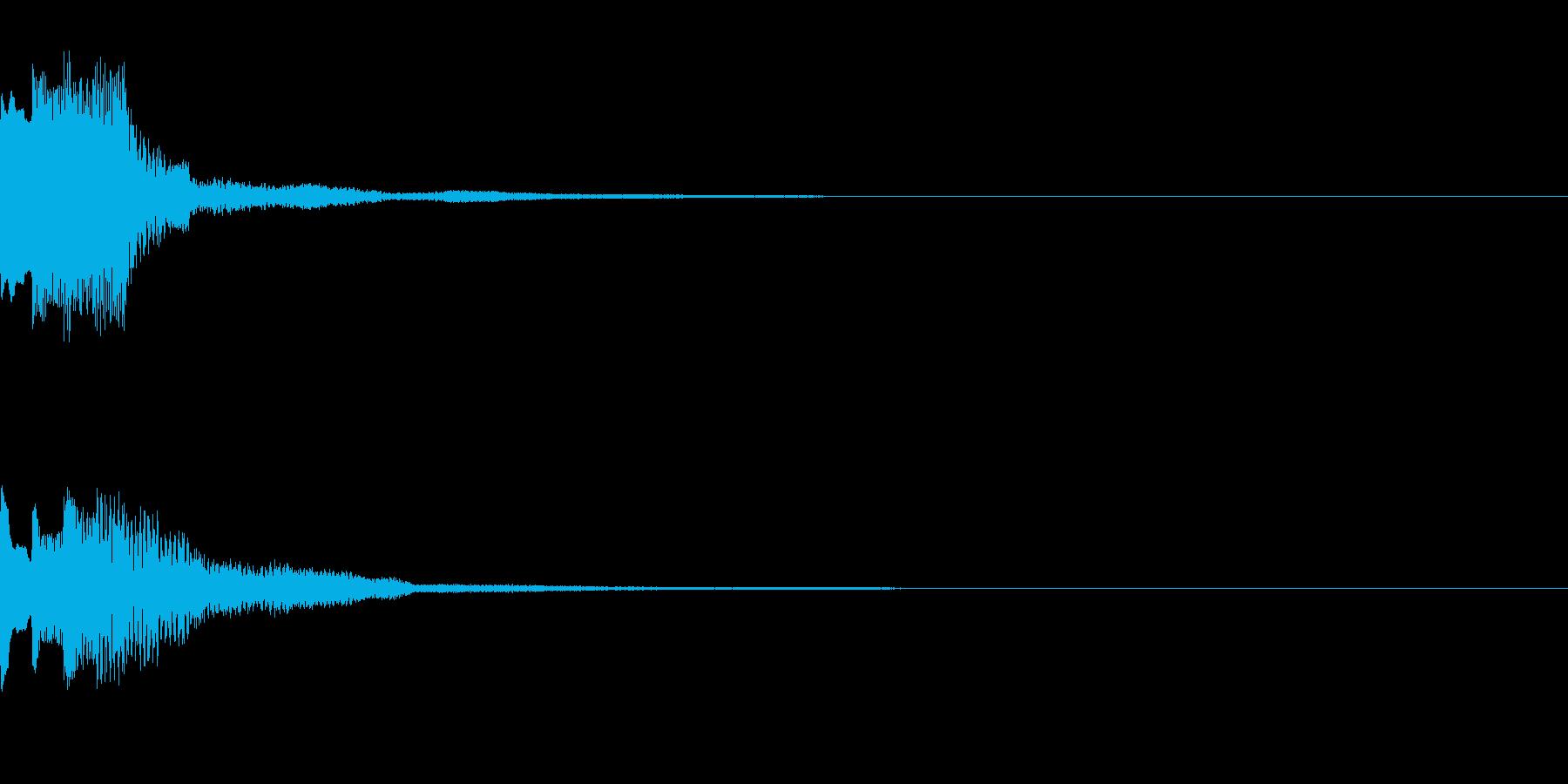 決定音42_シンセAEの再生済みの波形