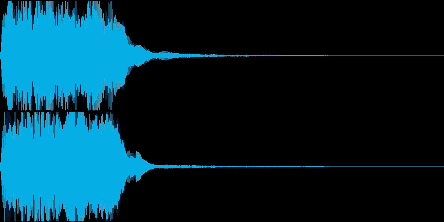 ラッパ ファンファーレ 定番 25の再生済みの波形