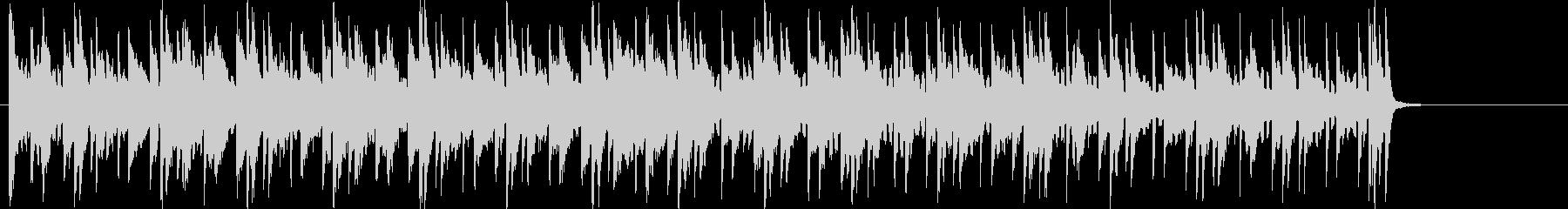 デジタルテクノ感あるBGMの未再生の波形