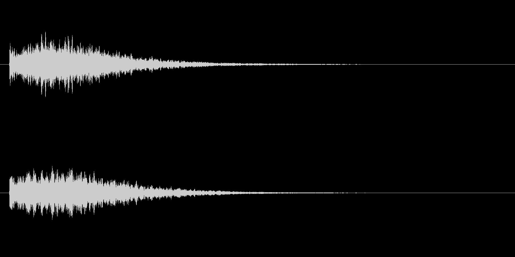 光る効果音の未再生の波形