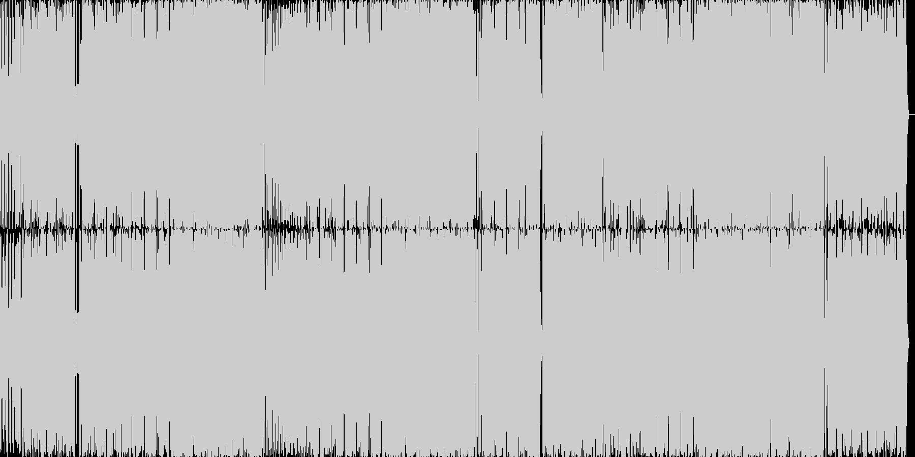 キュートなミディアムダンスポップナンバーの未再生の波形