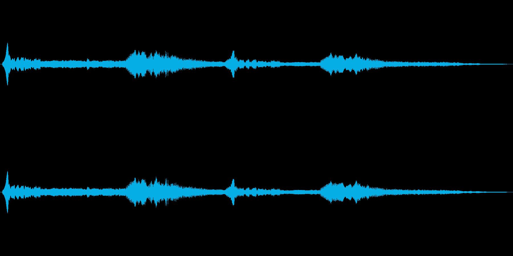宇宙っぽい電子音3の再生済みの波形