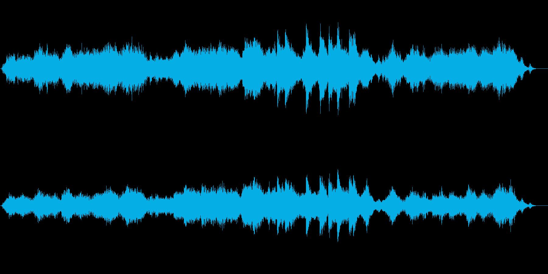 環境音楽(海中探索風)の再生済みの波形