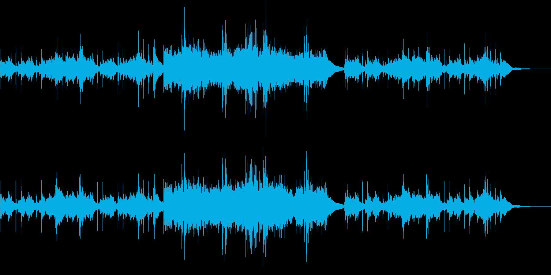 古筝と打楽器を使った中国的な曲の再生済みの波形