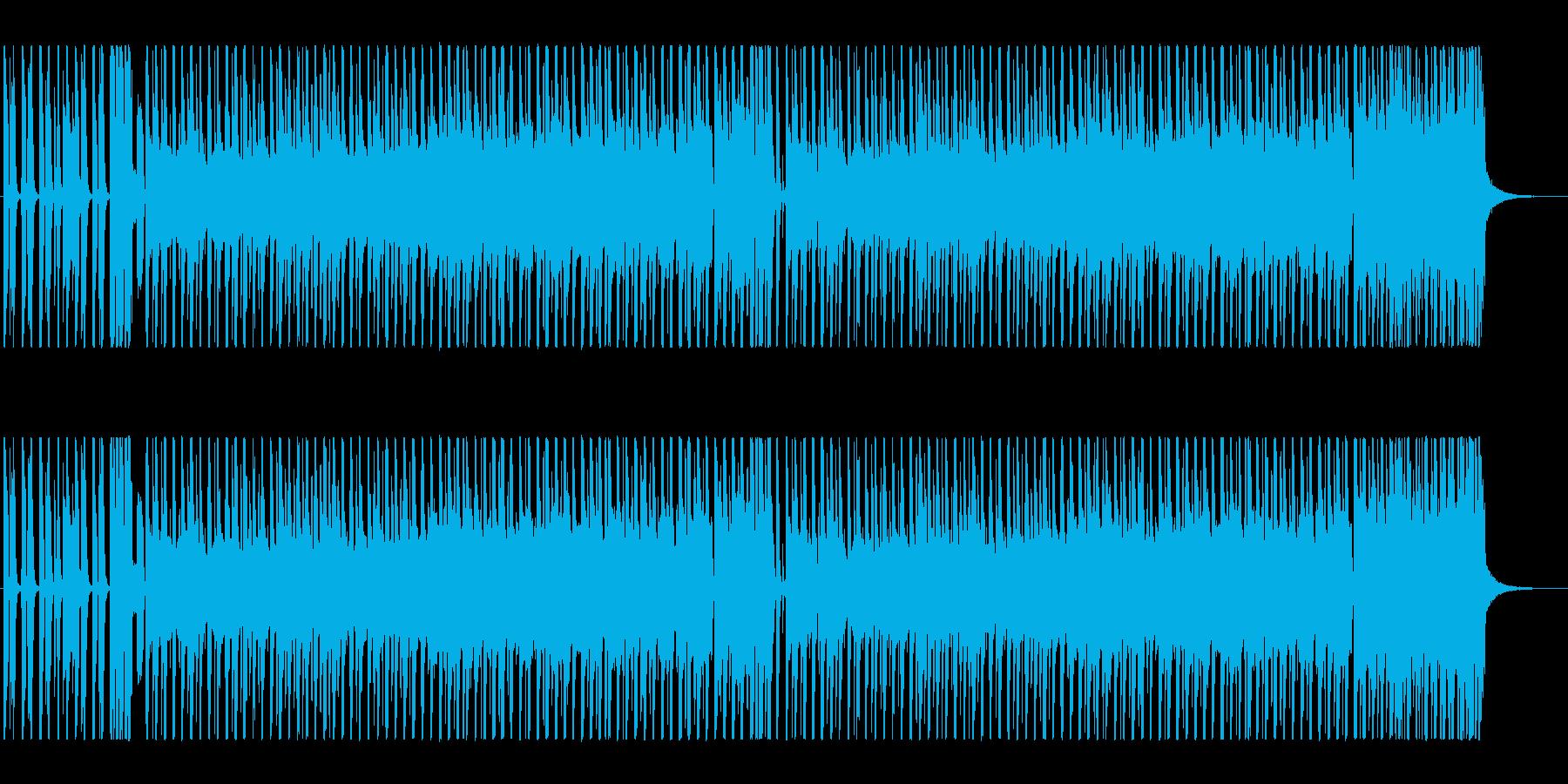 三線の音色がメロディー、ドラム、ベースの再生済みの波形