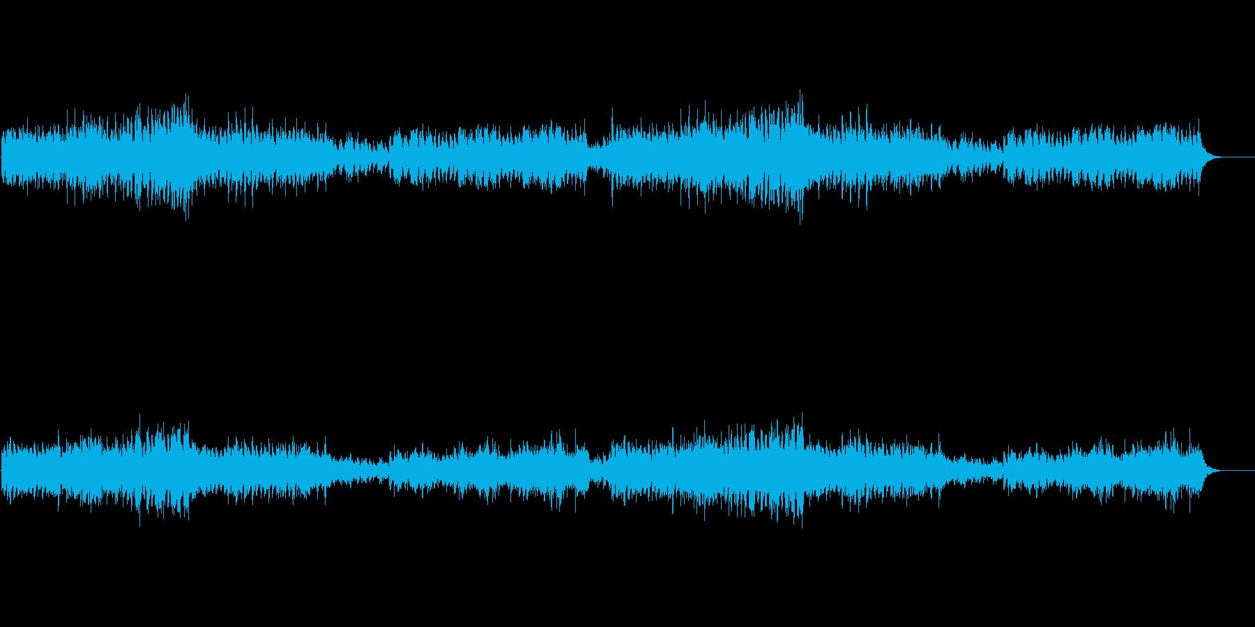 軽快で明るい弦楽奏の再生済みの波形
