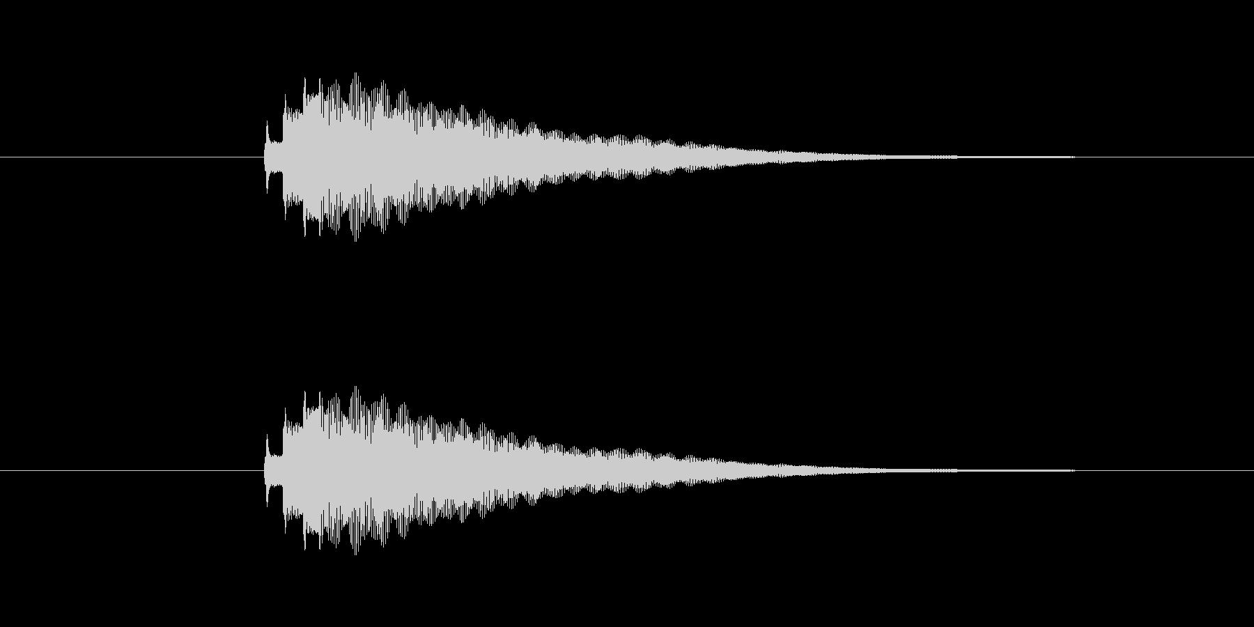 Kalimbellを使った明るい効果音…の未再生の波形