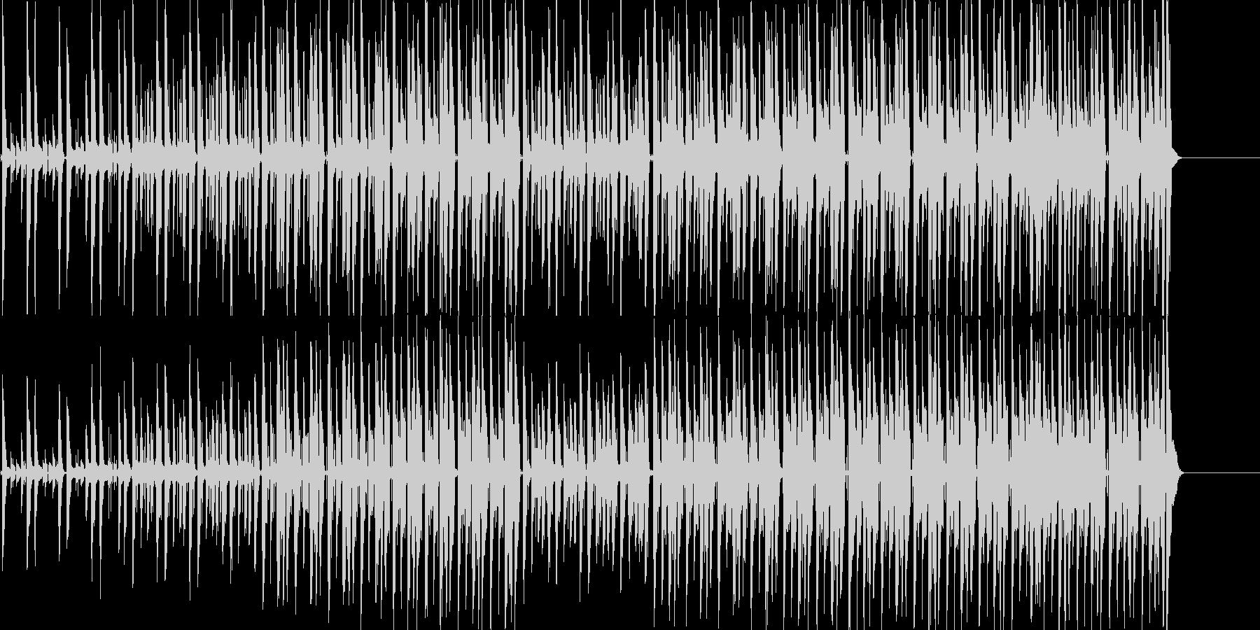 ノリのいいファンキーなギターの曲の未再生の波形