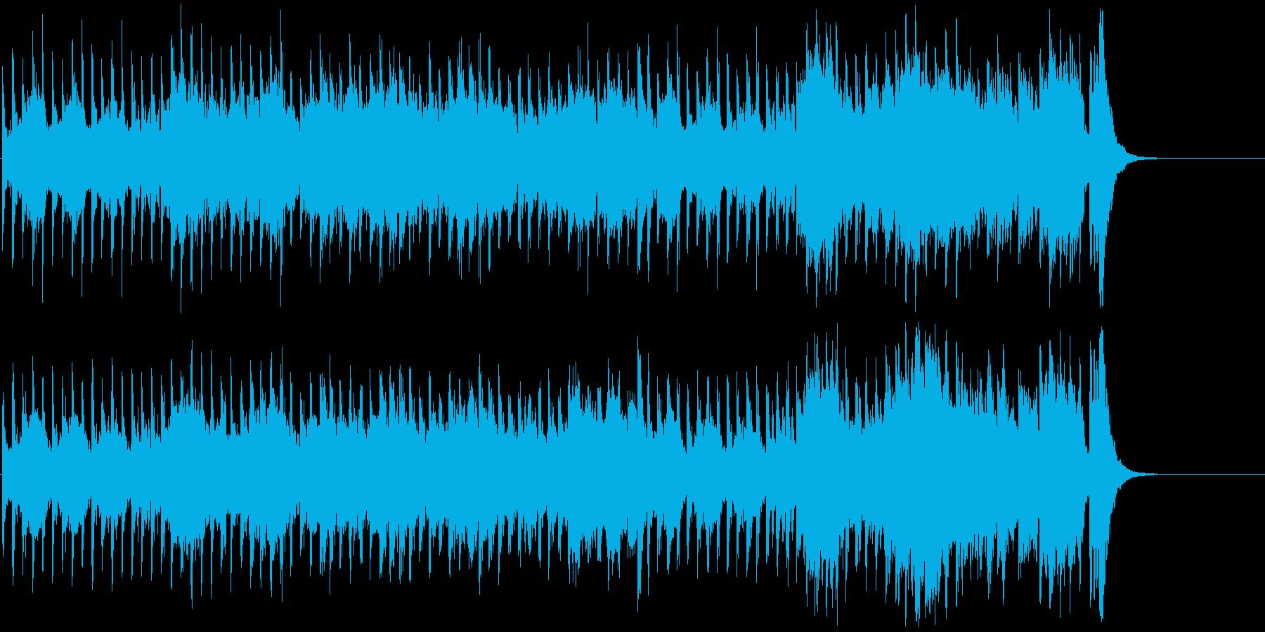 行進曲風の勇壮なオーケストラの再生済みの波形
