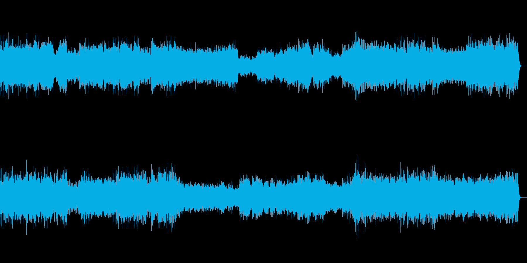 ドキュメンタリーテーマ音楽の再生済みの波形