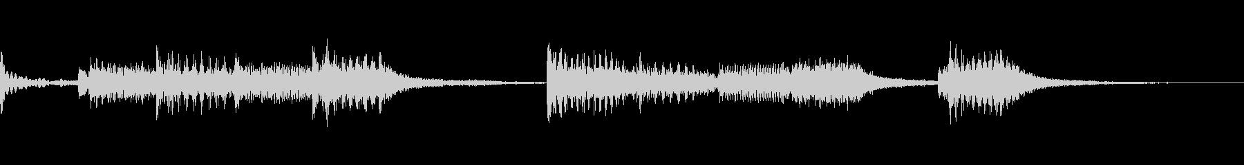 ドラムのリニアフレーズが特徴なロックの未再生の波形