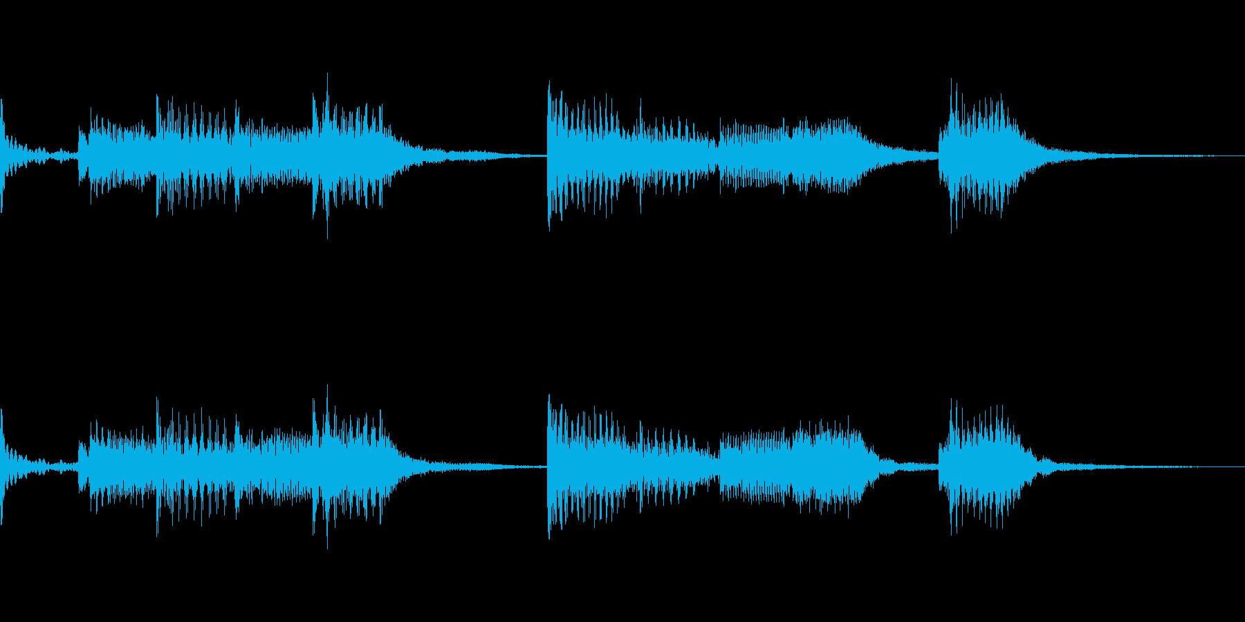 ドラムのリニアフレーズが特徴なロックの再生済みの波形