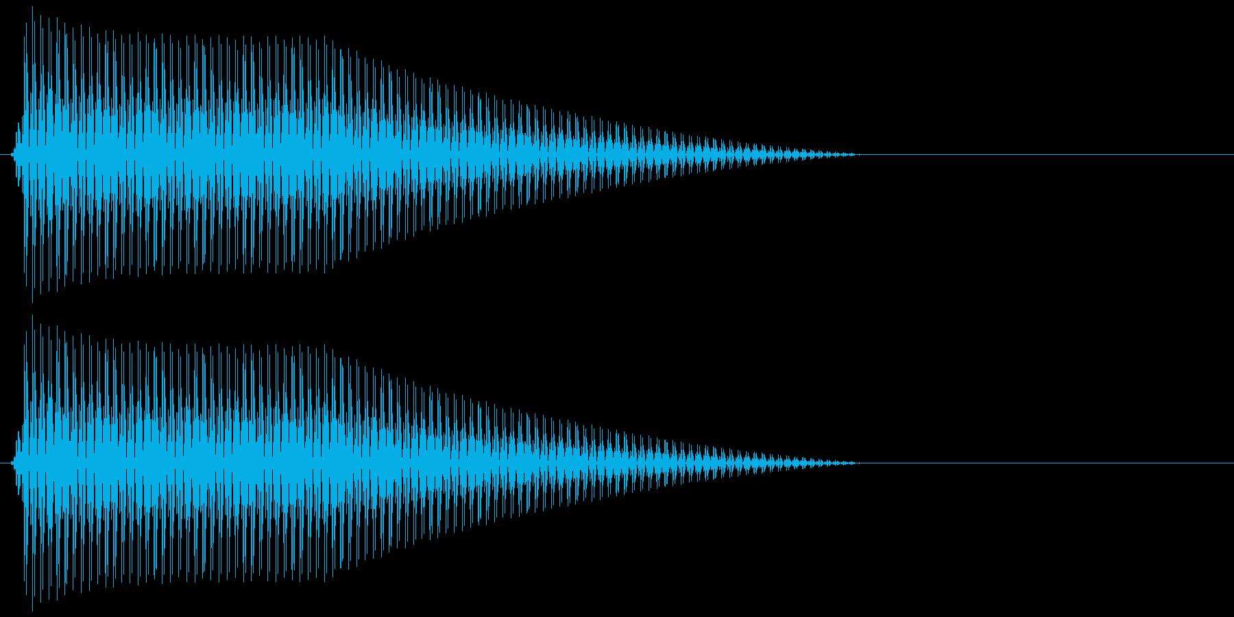 OctaveCom アプリ用タッチ音11の再生済みの波形