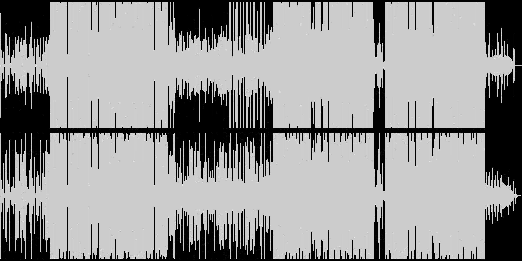 テンポの良い動画にシンクロする四つ打ちの未再生の波形