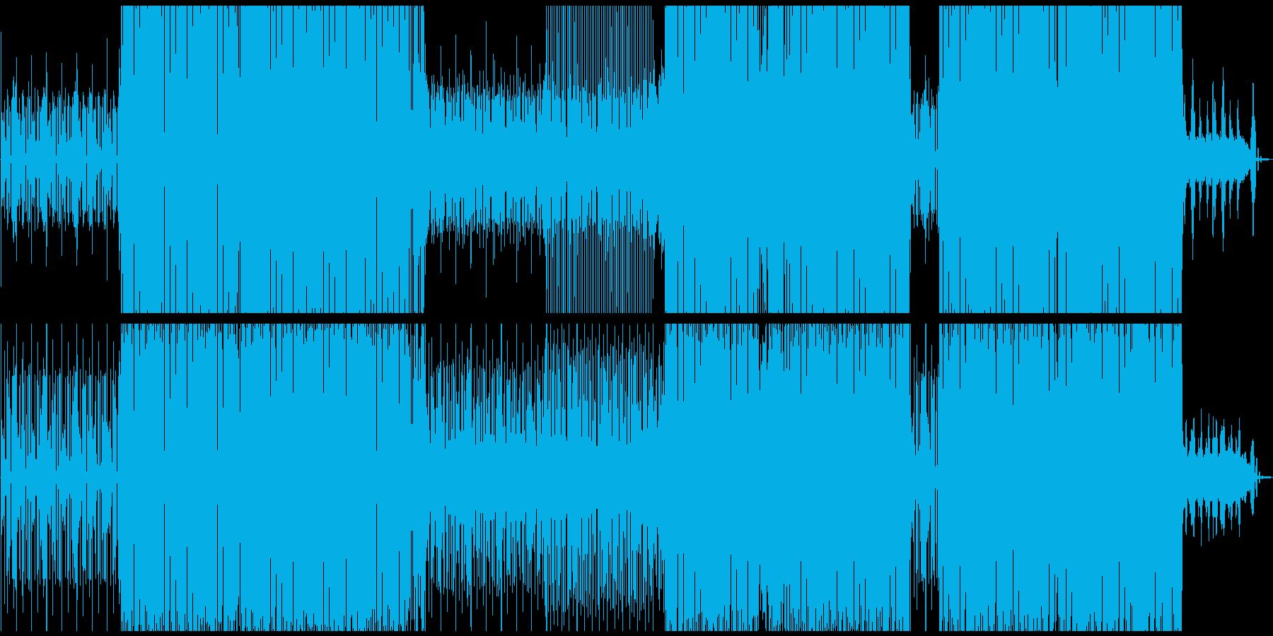 テンポの良い動画にシンクロする四つ打ちの再生済みの波形
