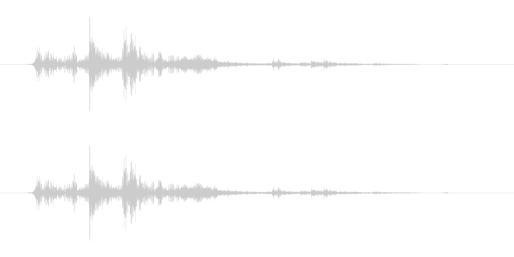 ガチャ(ドアの開閉音.03)の未再生の波形
