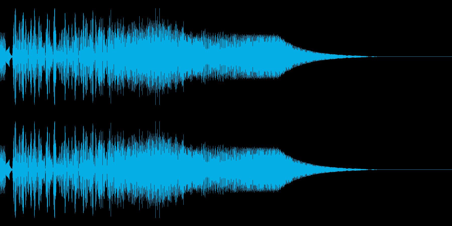 バシャッ01(水・液体系のアクション音)の再生済みの波形