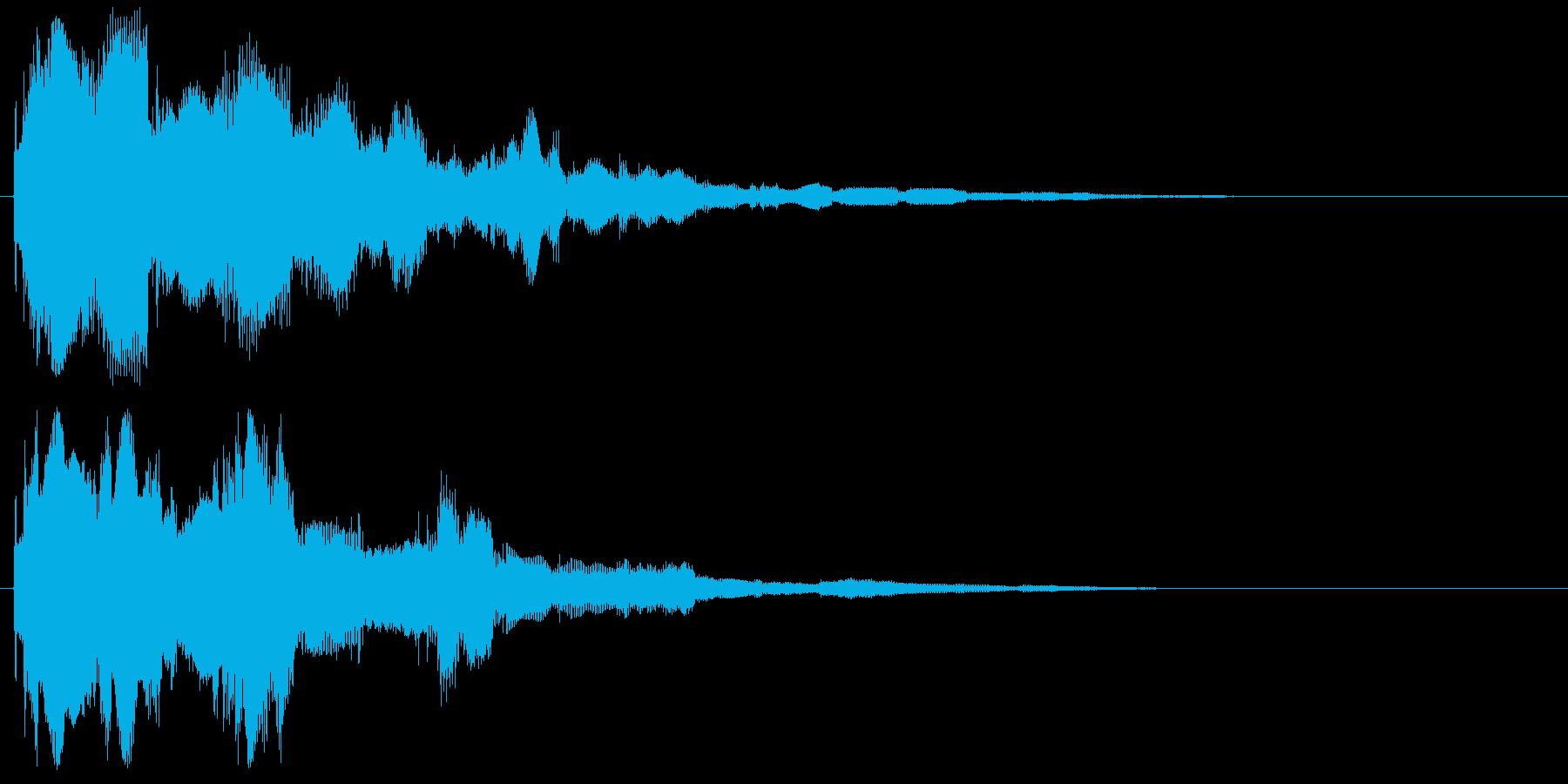 決定 スタート セレクト 選択 クリックの再生済みの波形