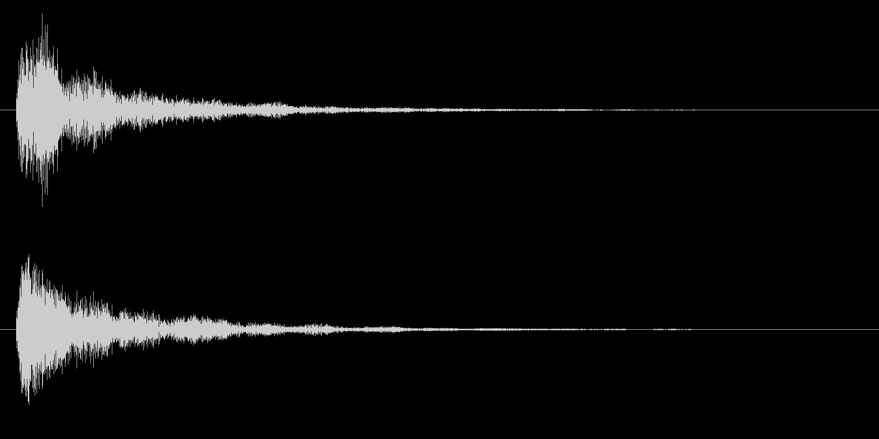 タッチ決定クリック音やサウンドロゴに8!の未再生の波形