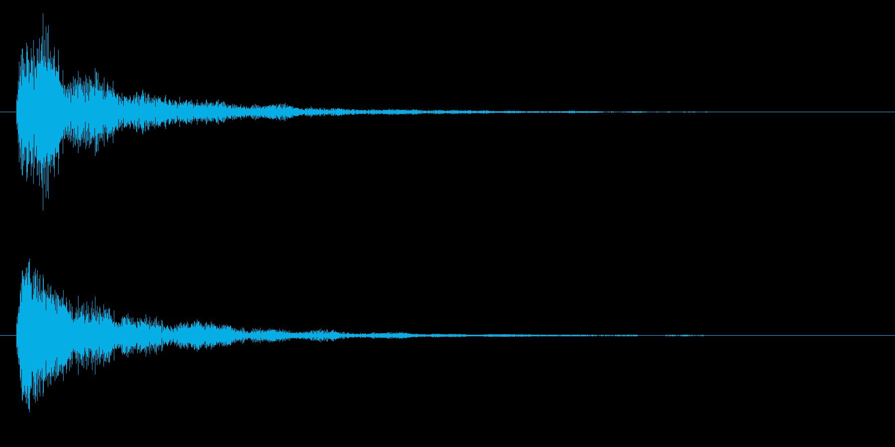 タッチ決定クリック音やサウンドロゴに8!の再生済みの波形