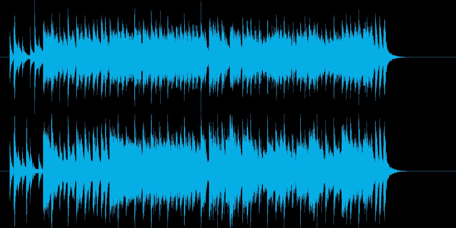 ストーリー性のあるポップスの再生済みの波形