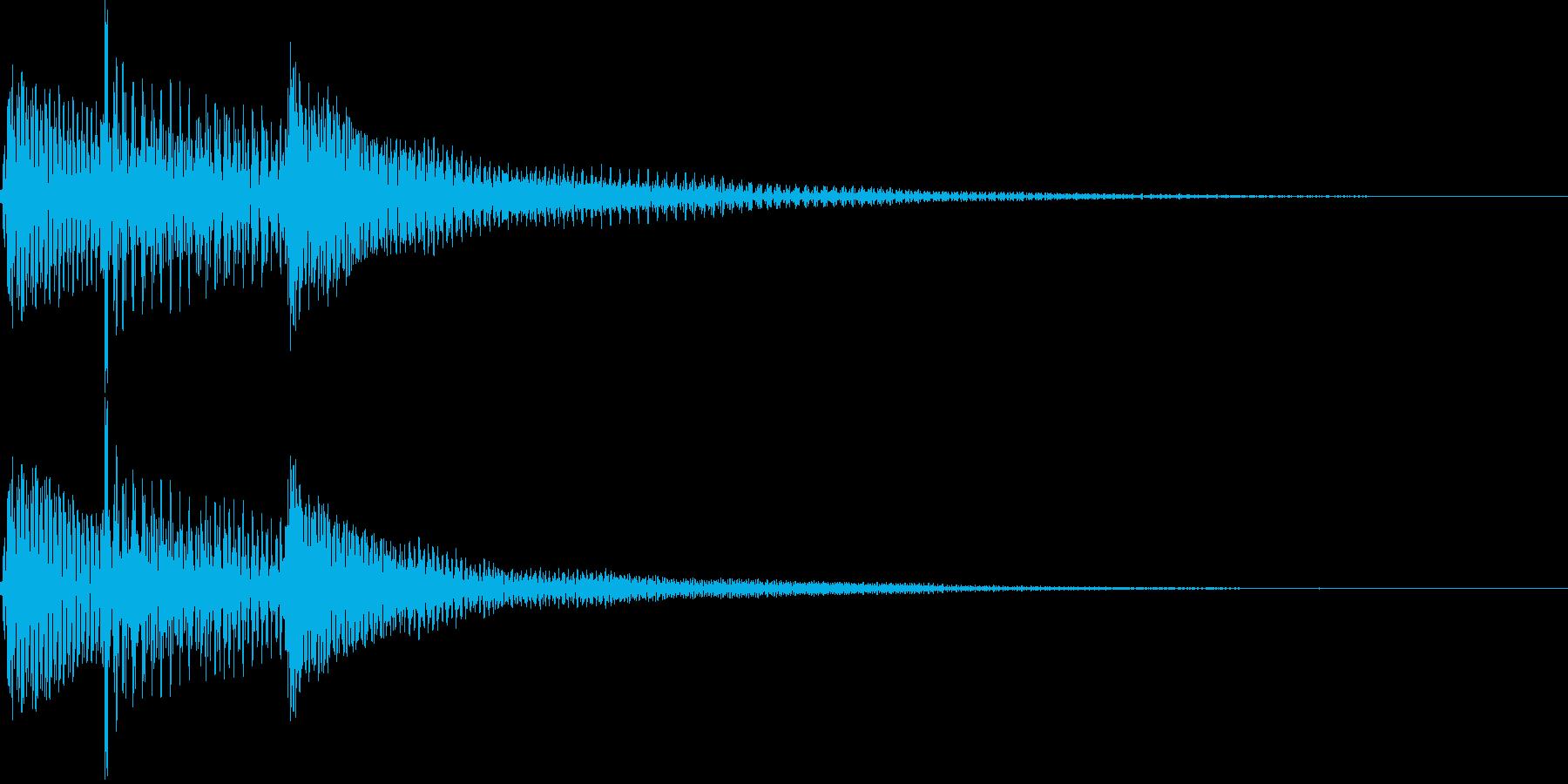 ポロロン(ギターかき鳴らし、決定)の再生済みの波形