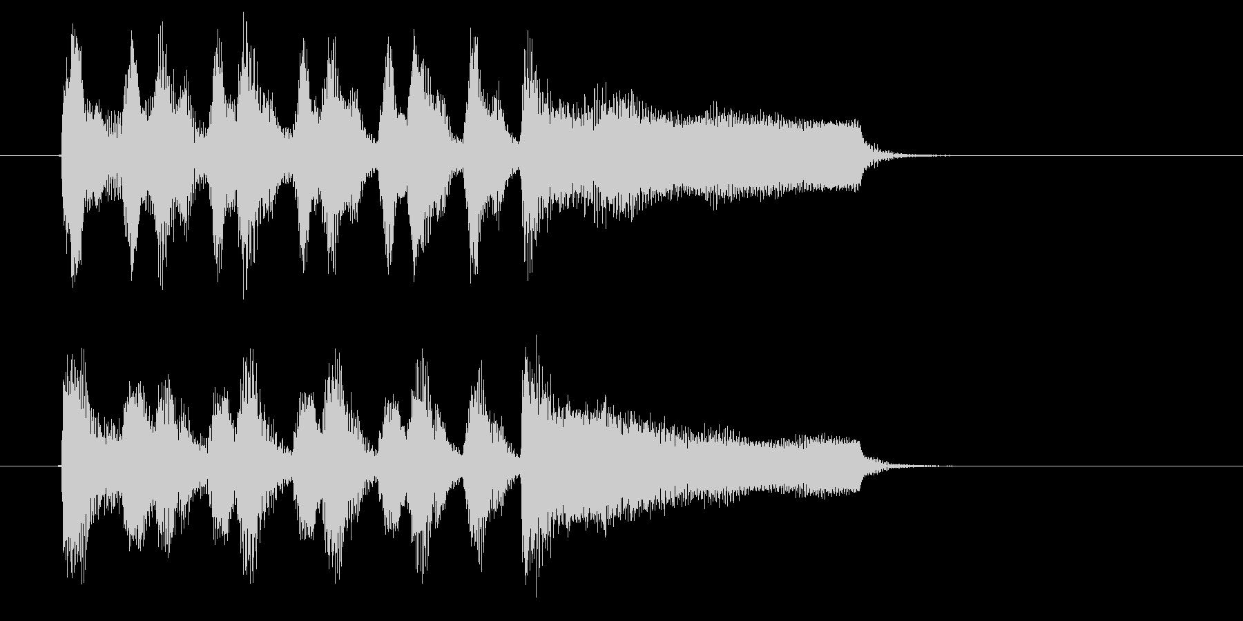 激しくミステリアスなミュージックの未再生の波形