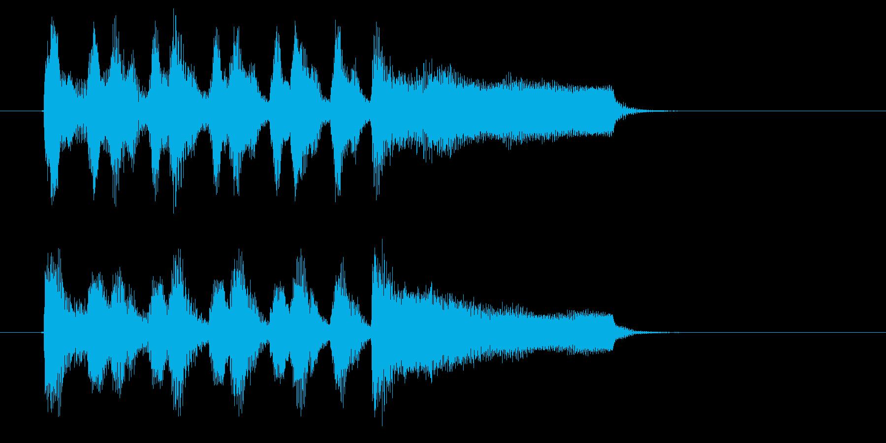 激しくミステリアスなミュージックの再生済みの波形