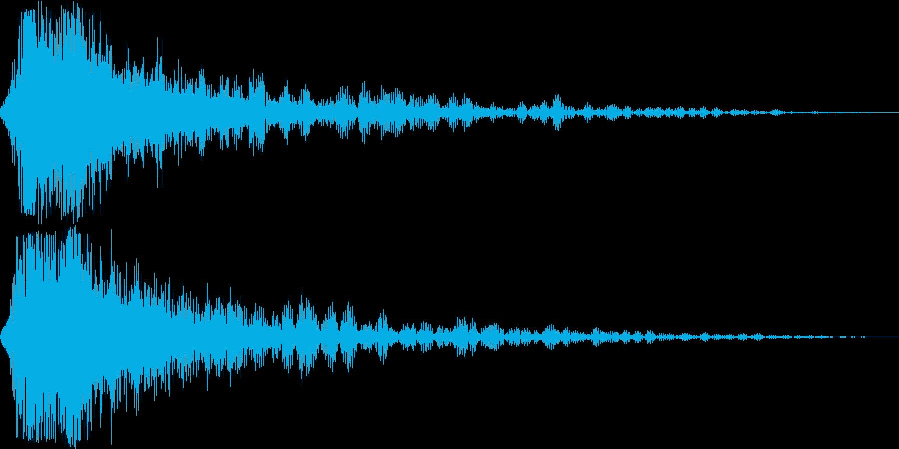 剣や刀のインパクトに最適な効果音です!3の再生済みの波形