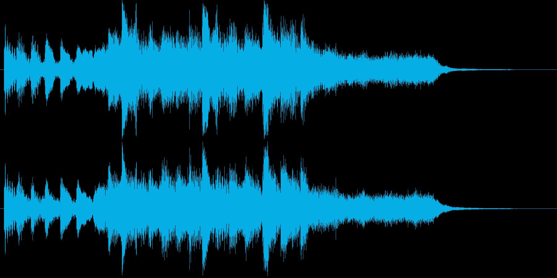 哀愁あるピアノの短いメロディーの再生済みの波形