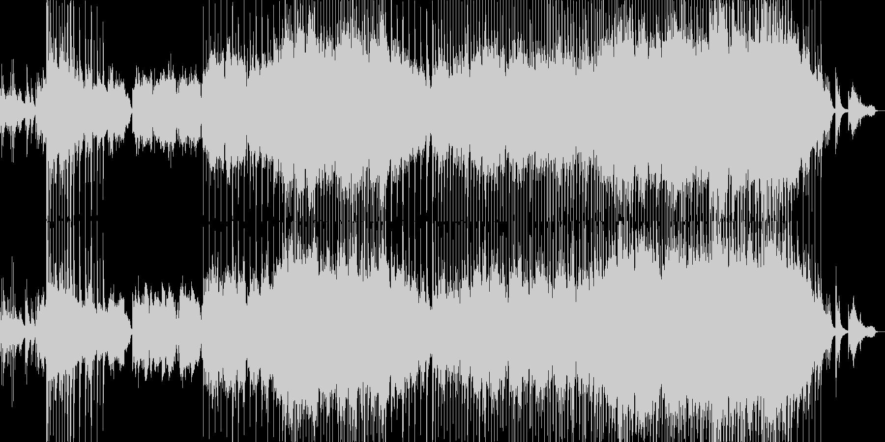 悲しい雰囲気の韓流風バラードの未再生の波形