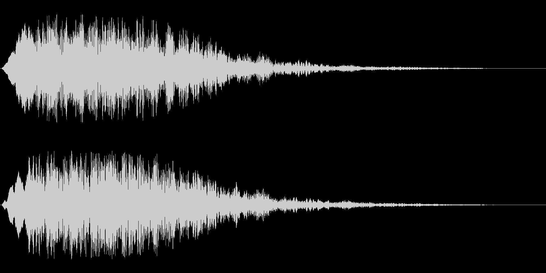 恐怖心を煽る音(怪奇現象シーンの効果音)の未再生の波形