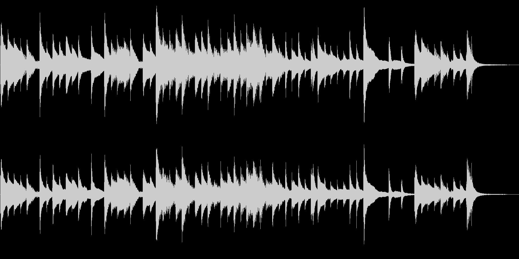 ハープによるゲームオーバー用BGMの未再生の波形